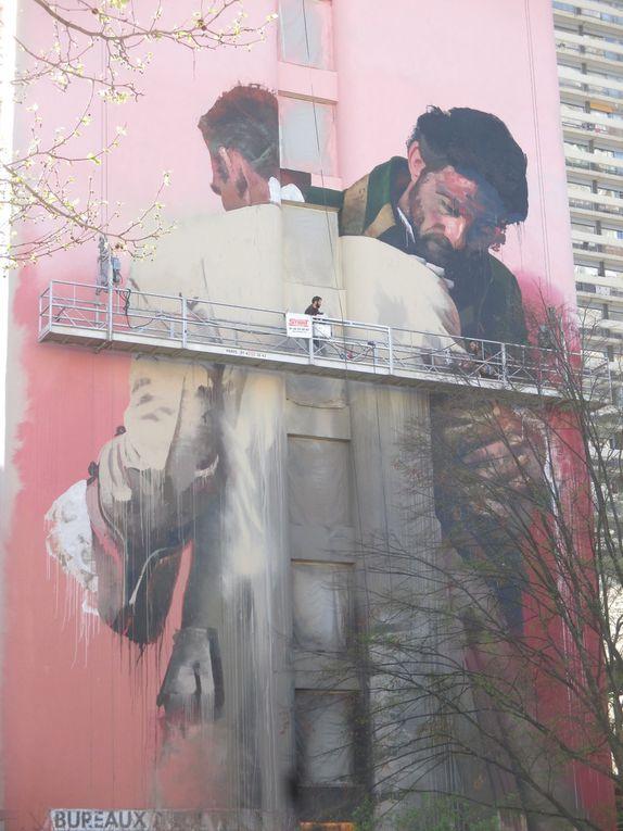 Conor Harrington, oeuvre en cours, Paris 13e