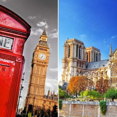 Entre Londres et Paris