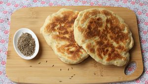 Naans fromage cumin