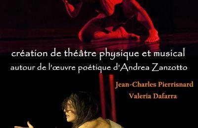 vendredi 21 septembre 20h30 : Incantations, une création autour le l'oeuvre poétique de Andrea Zanzotto