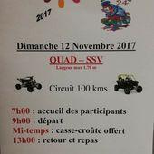Rando quad-SSV Téléthon de l'association Quad Aventure 24, le 12 novembre 2017 - RANDONNEE ENDURO DU SUD OUEST