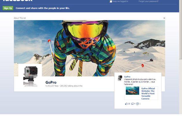 Web : FaceBook, de la pub en page d'accueil