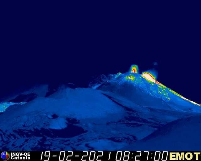 Etna - 19.02.2021 / 08h27 - webcam Emot0169 INGV OE