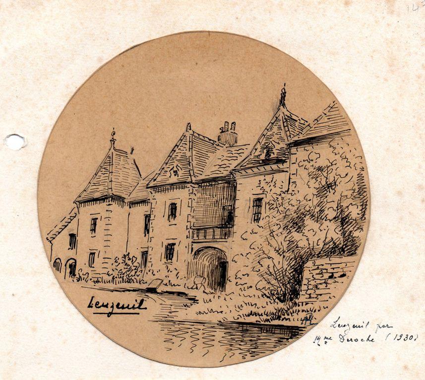 Quelques vues de Fleurey-sur-Ouche. Clichés HIPAF et mairie de Fleurey