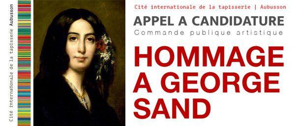 L'hommage à George Sand de la Cité internationale de la tapisserie. Les cinq artistes sélectionnées