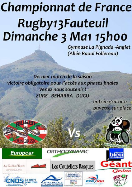 Rugby13Fauteuil - Championnat de France