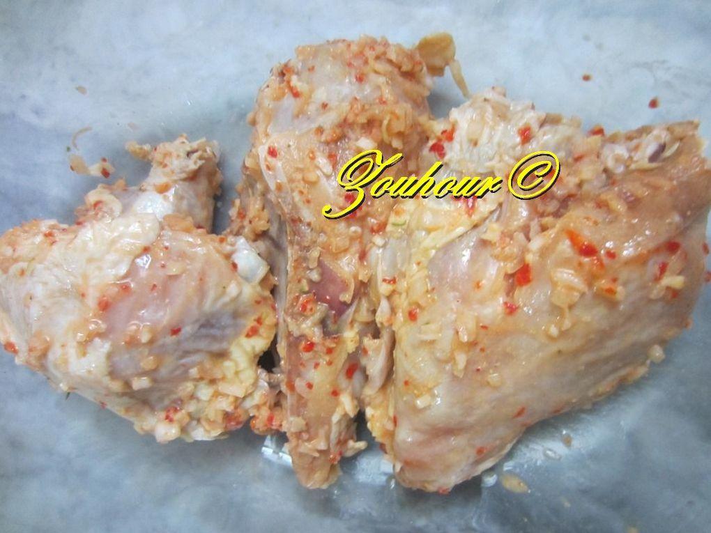 Poulet Yassa avec couscous
