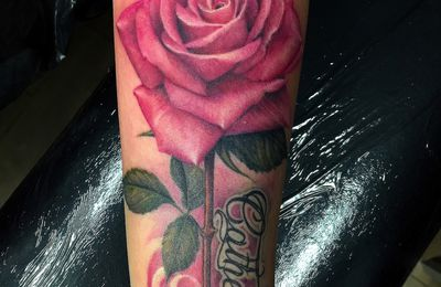 rose tattoo by Roxane Duquenne