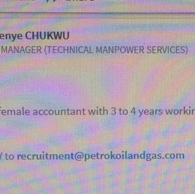 Find out what's written on the image below, its a Job vacancy