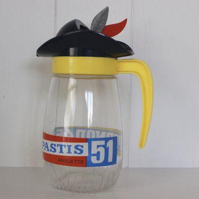 Carafe Pastis 51 Pernod 45 Anisette Années 70 - Vintage