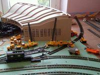 Bac à charbon et poursuite de la construction du réseau HO. rail club Terrug presquile