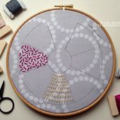 &Stitches: June Sampler-along: Sheaf Filling Stitch