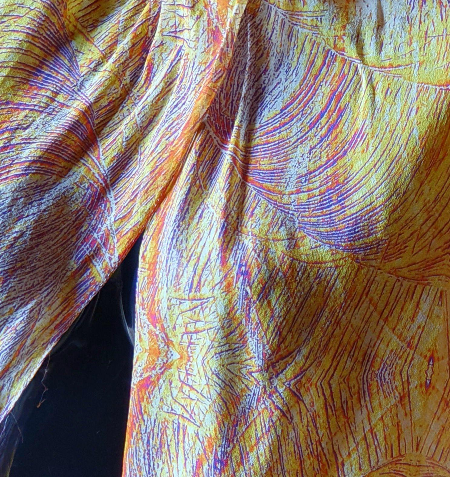 Laurence Véron , designer textile écoresponsable, créé Atelier Laurence V à Dommartin