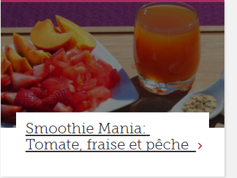 Smoothie Mania: Tomate, fraise et pêche
