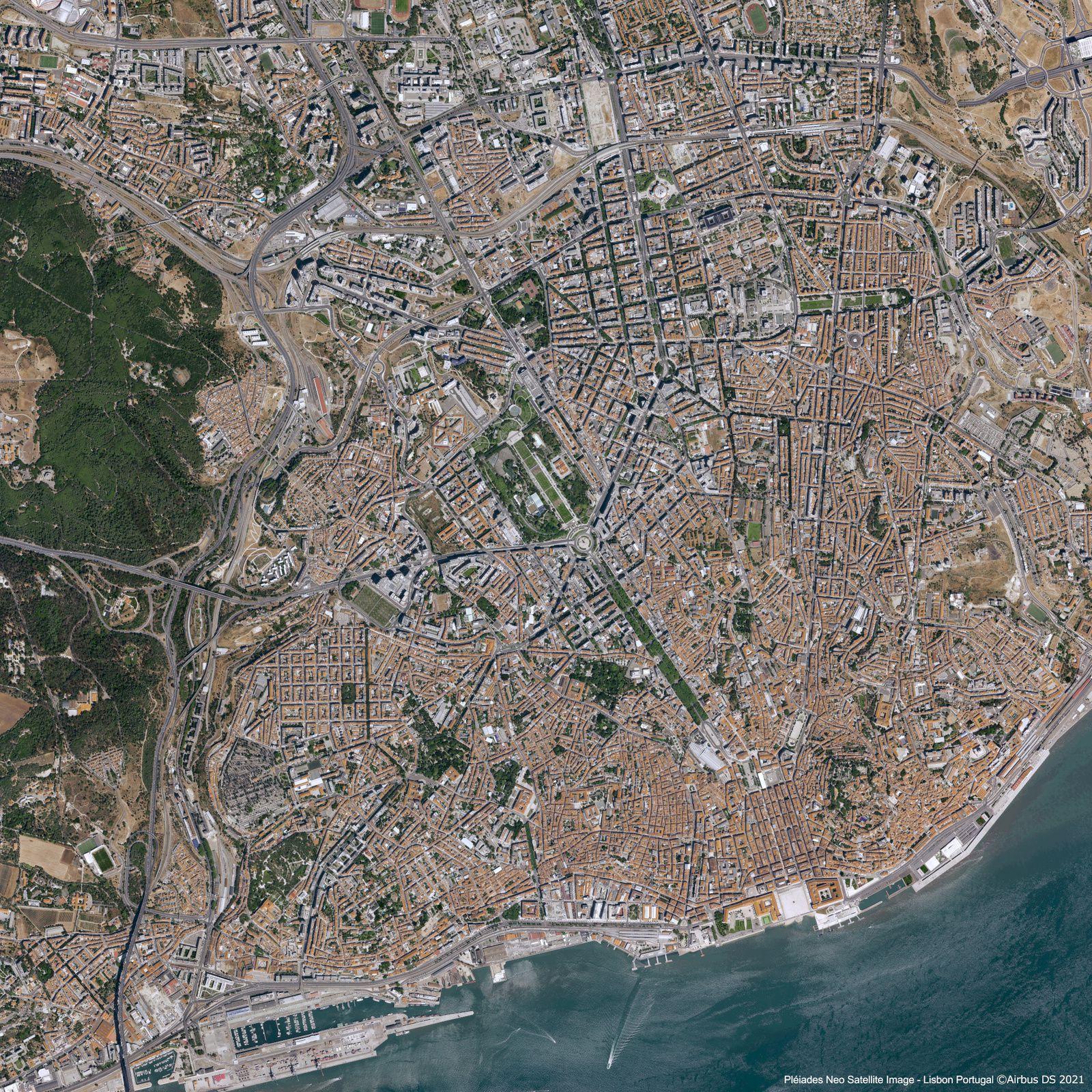 Pléiades Neo 4 - Lisbonne - Lisbon - Lisboa - Potugal - Satellite - First image - Premières images - Airbus Defence and Space - Earth Observation