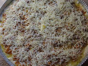 Pizza poivrons jaunes & anchois