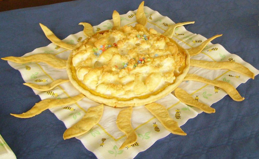 crème citron - meringue - sortie du four - MIAM - version SOLEIL