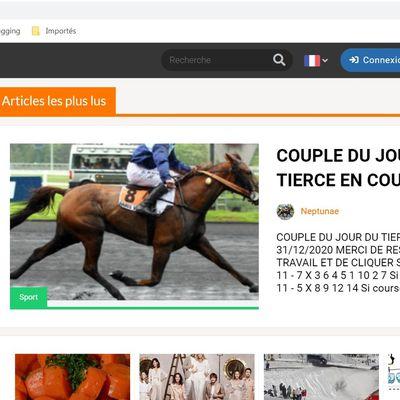 LE JOURNAL GRATUIT DU PARIEUR - 10 MAI 2021 - COUPLE DU JOUR DU TIERCE EN COUVERTURE
