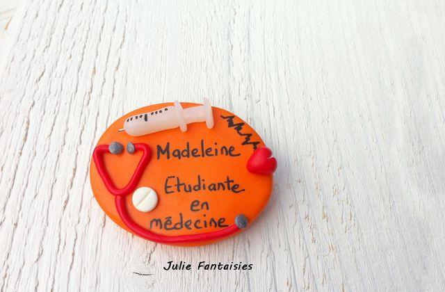 Badge médical pour Madeleine, étudiante en médecine