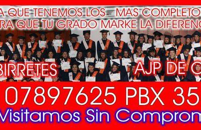 AJP DE COLOMBIA  Alquiler Togas y birretes Bogotá Colombia          pbx 3514739 Cel 3107897625