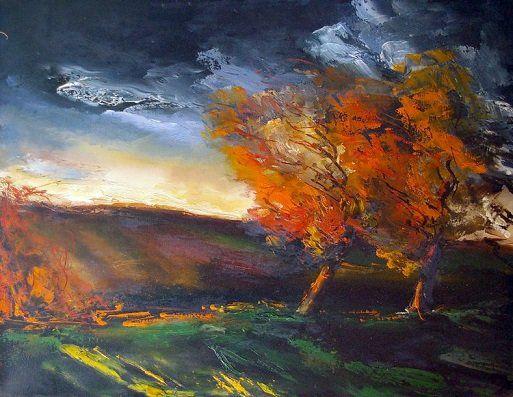 Paysage d'automne, ciel d'orage - Maurice de Vlaminck (1876 - 1958), peintre français