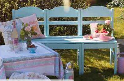 fabriquer un banc de jardin avec 3 chaises