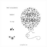152533 Hooray to you stampin up anniversaire ballon