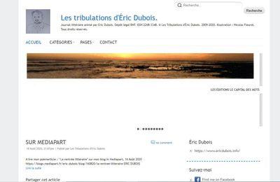 ARRÊT DU BLOG PERSONNEL LES TRIBULATIONS D'ERIC DUBOIS ( 2009-2020 )