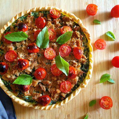 Tarte thon épinards et tomates cerises