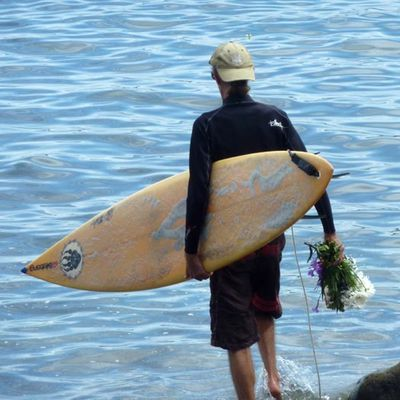 Aloha, paddle out, hommage à Maggot