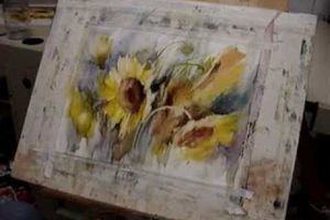 Fabio Cembranelli Loose Flower Watercolour