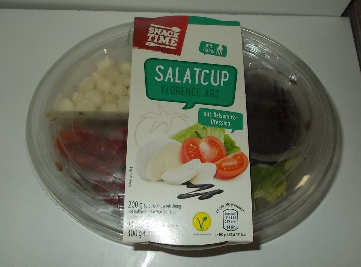 Aldi Snack Time Salatcup Florence mit Balsamico-Dressing