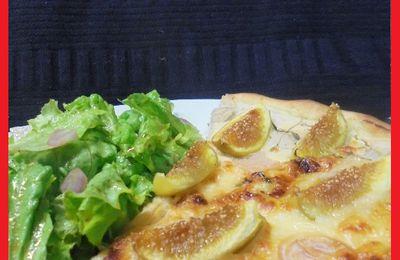 Pizza Blanche à la Ricotta, Miel et Figues ...