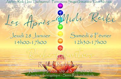 Les Après-Midi Reiki, Jeudi 28 Janvier & Samedi 6 Février 2021 à Chartres
