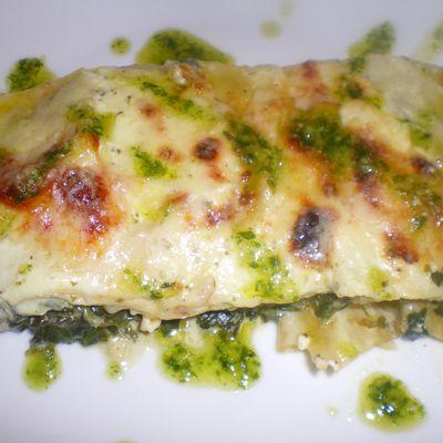 Lasagnes aux épinards et au fromage de chèvre