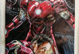 Iron man ,portrait de robert downey jr