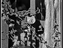 St Germain Lembron - Détail du vieux portail (2/3) ...