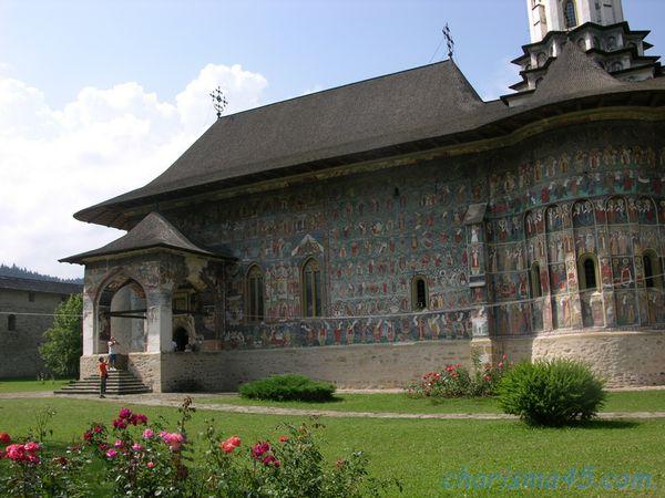 Monastère de Sucévita, Roumanie en camping-car