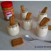 Crème dessert au spéculoos façon Danette au thermomix ou sans - La cuisine de poupoule