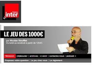 COLOMBES : LE JEU DES 1 000 EUROS A COLOMBES LE 21 DÉCEMBRE !
