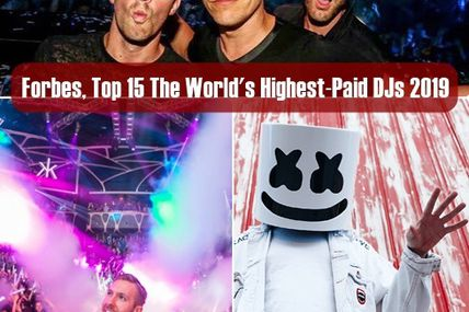 Forbes | Top 15, The World's Highest-Paid DJs 2019, Tiësto number 6 with $24 million