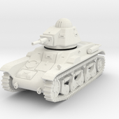 PV88A Renault R40 Light Tank (28mm) by mpennock on Shapeways