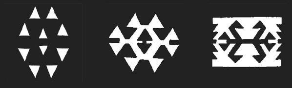 Symbolique des kilims : KURT IZI, la gueule ou l'empreinte du loup