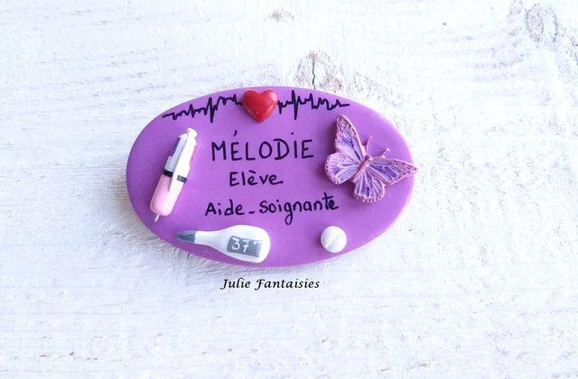 Badge pour Mélodie, élève aide soignante