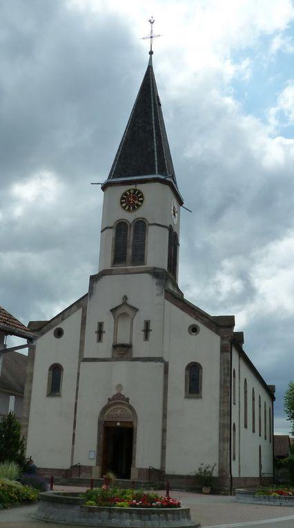 Tourisme: les vitraux de l'église d'Elsenheim