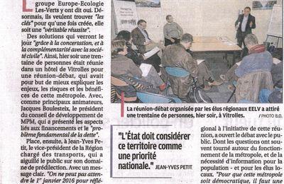 Article de La Provence à propos d'un débat sur la Métropole à Vitrolles ...