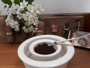 Coupelle  ( diverses utilités: bougies, répilsif guêpes (cfé moilu brulé )