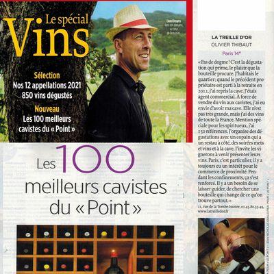 Parmi les 100 meilleurs cavistes français selon Le Point