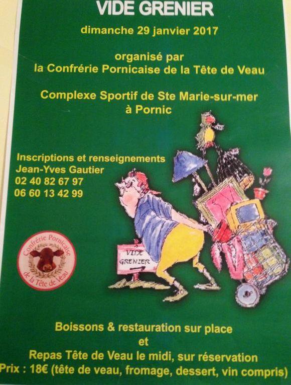 Pluches pour la Tête de Veau du vide grenier de dimanche 29/01/2017.