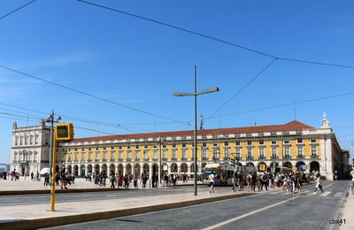 La Place du Commerce, Lisbonne (Portugal)